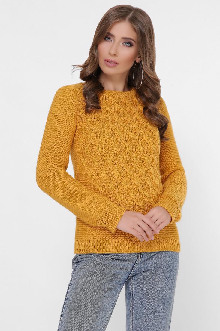 Полушерстяной женский свитер Злата-4