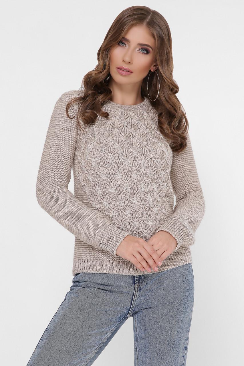 Полушерстяной женский свитер Злата-5