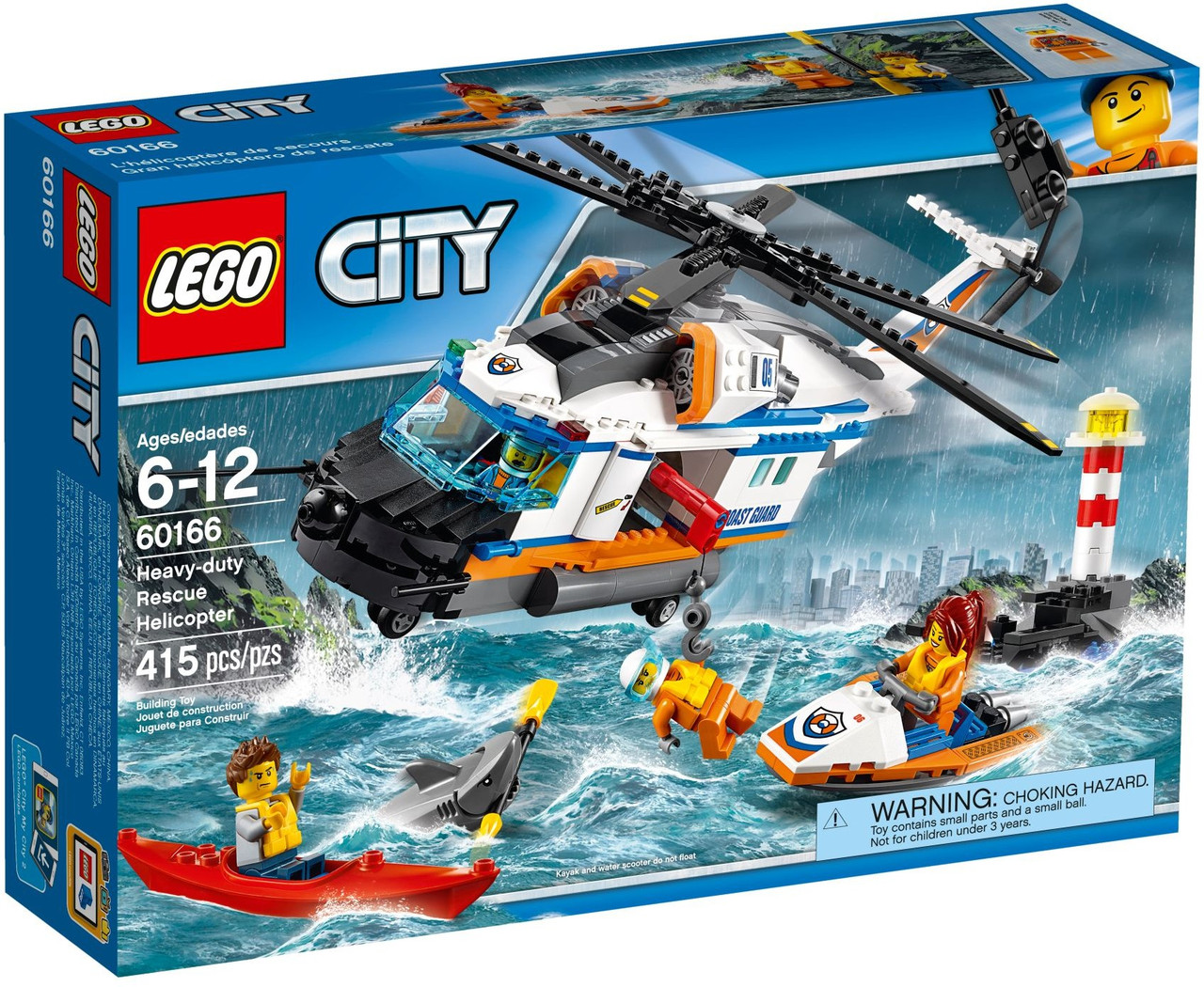 Lego City Сверхмощный спасательный вертолёт 60166