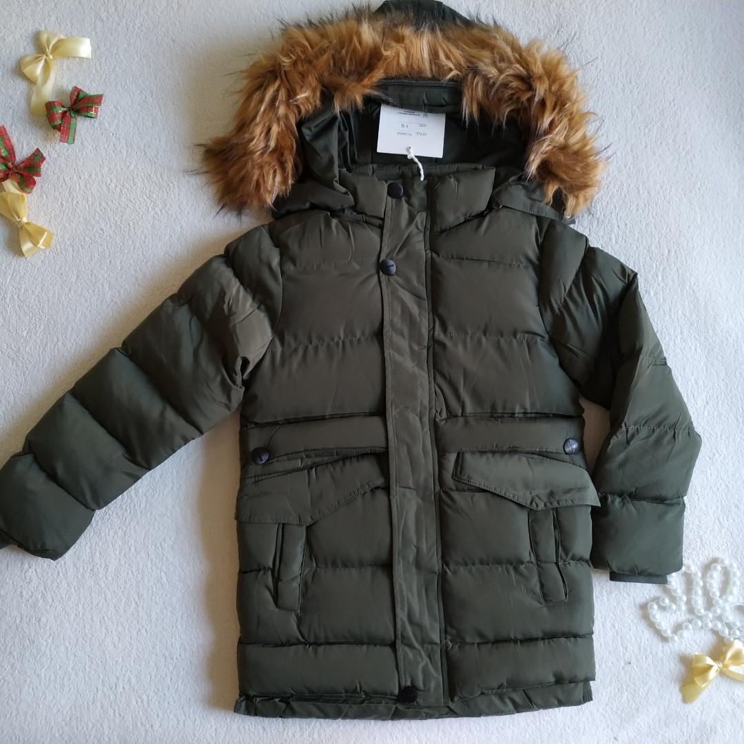 ✅Куртка для мальчика теплая удлиненная Куртка детская зимняя  Размер 146