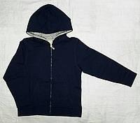 Детская спортивная кофта с начесом темно-синяя (Z&M, Турция)