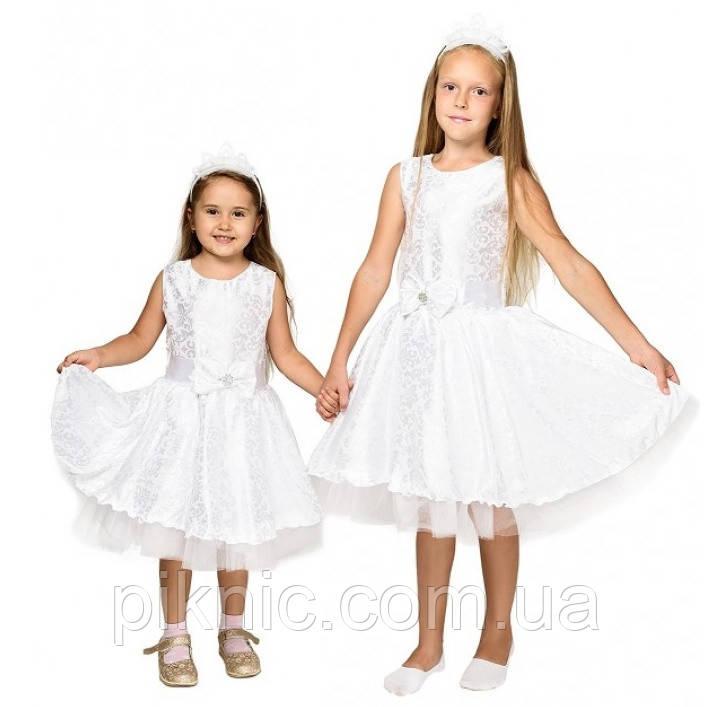 Платье Снежинки на 5,6,7,8 лет. Детский новогодний карнавальный костюм для девочек