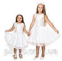 Плаття Сніжинки на 5,6,7,8 років. Дитячий новорічний карнавальний костюм для дівчаток