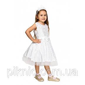 Платье Снежинки для девочки 7,8 лет. Детский карнавальный маскарадный костюм, фото 2