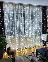 Новогодняя гирлянда штора на окно «Белоснежная», фото 1