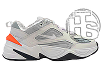 Женские кроссовки Nike M2K Tekno Grey White Crimson (с мехом) AO3108-001