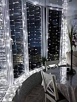 Гирлянда Штора «Белые огни» 2 на 2 м. 200 LED, фото 1