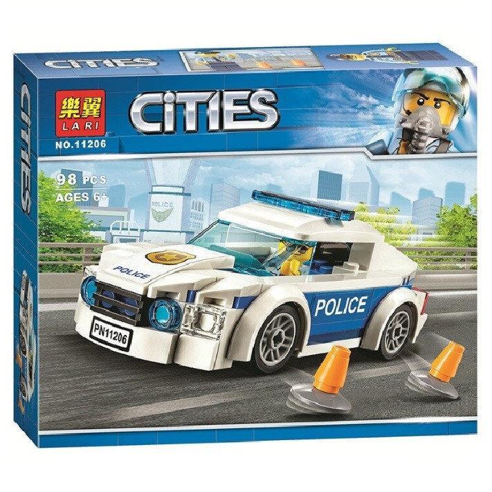 """Конструктор Bela  City 11206 City 60239 """"Автомобиль полицейского патруля"""" 98 деталей"""