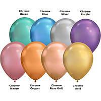 Гелиевые шары хром 👉 серебро, золото, розовое золото, лиловый,изумруд, фиолетовый,  синий, медный