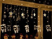 """Новогодняя гирлянда штора на окно «Волшебные олени"""", фото 1"""