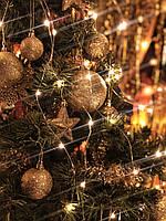Новогодняя гирлянда на елку конский хвост «Тёплые огни», фото 1