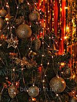 Новогодняя гирлянда на елку конский хвост от солнечных батарей, фото 1