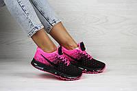 Женские кроссовки малиновые с черным Nike Air Max