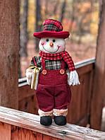 Новогоднее украшение фигурка  под ёлку Снеговик, фото 1