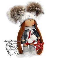 Лялька новорічна із зіркою, середня, ручна робота