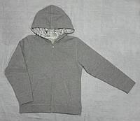 Детская спортивная кофта с начесом серая (Z&M, Турция)