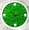 Часы настенные МОХ с мхом диаметр 30 см, фото 2