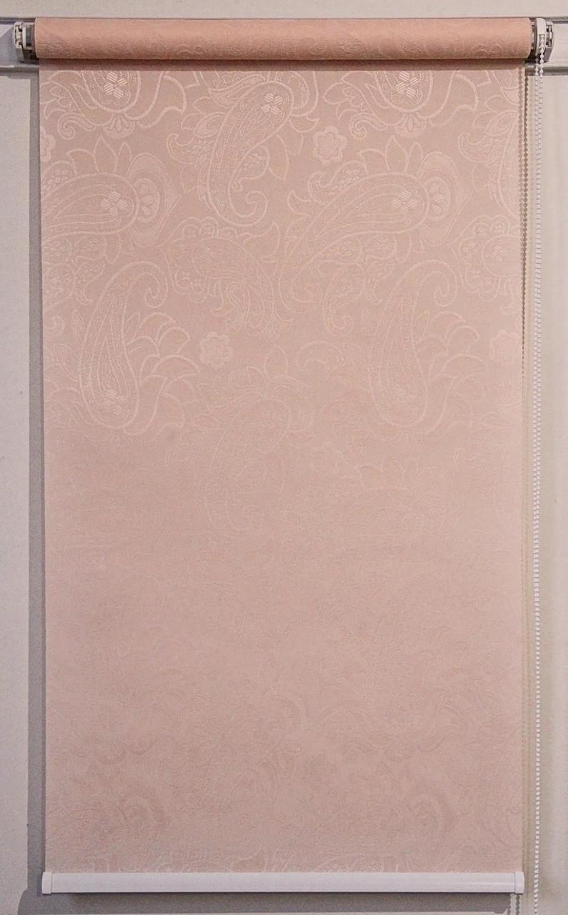 Рулонна штора 1300*1500 Арабеска 2070 Кремовий