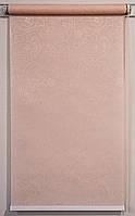 Готовые рулонные шторы 1300*1500 Ткань Арабеска 2070 Кремовый