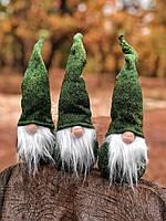 """Новогоднее украшение «Мягкий зелёный гном"""", фото 1"""