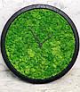 Часы настенные из мхом диаметр 35 см, фото 2