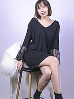 Черное платье с кружевом Marks&Spencer, размер L, арт. 0486-0970