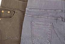 Джинсы женские на флисовой подкладке в больших размерах 5XL - 6XL Джеггинсы зимние - батал, фото 2