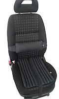 Эргономические подушки EKKOSEAT на автомобильное кресло. Комплект. Черный.