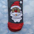 Шкарпетки жіночі новорічні махра темно сірі розмір 36-41, фото 3