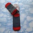 Шкарпетки жіночі новорічні махра темно сірі розмір 36-41, фото 2