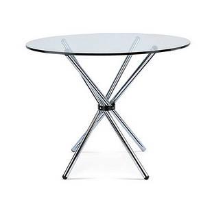 Стол Тог, стеклянный, обеденный, металл, диаметр 90 см (Бесплатная доставка)