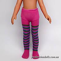 Колготки полосатые розовые для кукол Паола Рейна