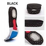 Ортопедические стельки для обуви из вспененной резины с амортизирующими гелевыми вставками, супинатором (36-46, фото 3