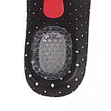 Ортопедические стельки для обуви из вспененной резины с амортизирующими гелевыми вставками, супинатором (36-46, фото 6
