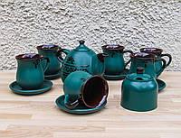 Чайний набір на 6 персон зелений