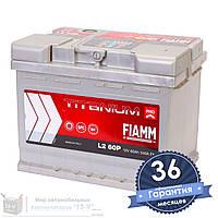 Аккумулятор автомобильный FIAMM Titanium Pro 6CT 60Ah, пусковой ток 540А [–|+] (L2 60P)