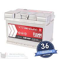 Аккумулятор автомобильный FIAMM Titanium Pro 6CT 60Ah, пусковой ток 600А (Низкий) [–|+] (L2B 60P)