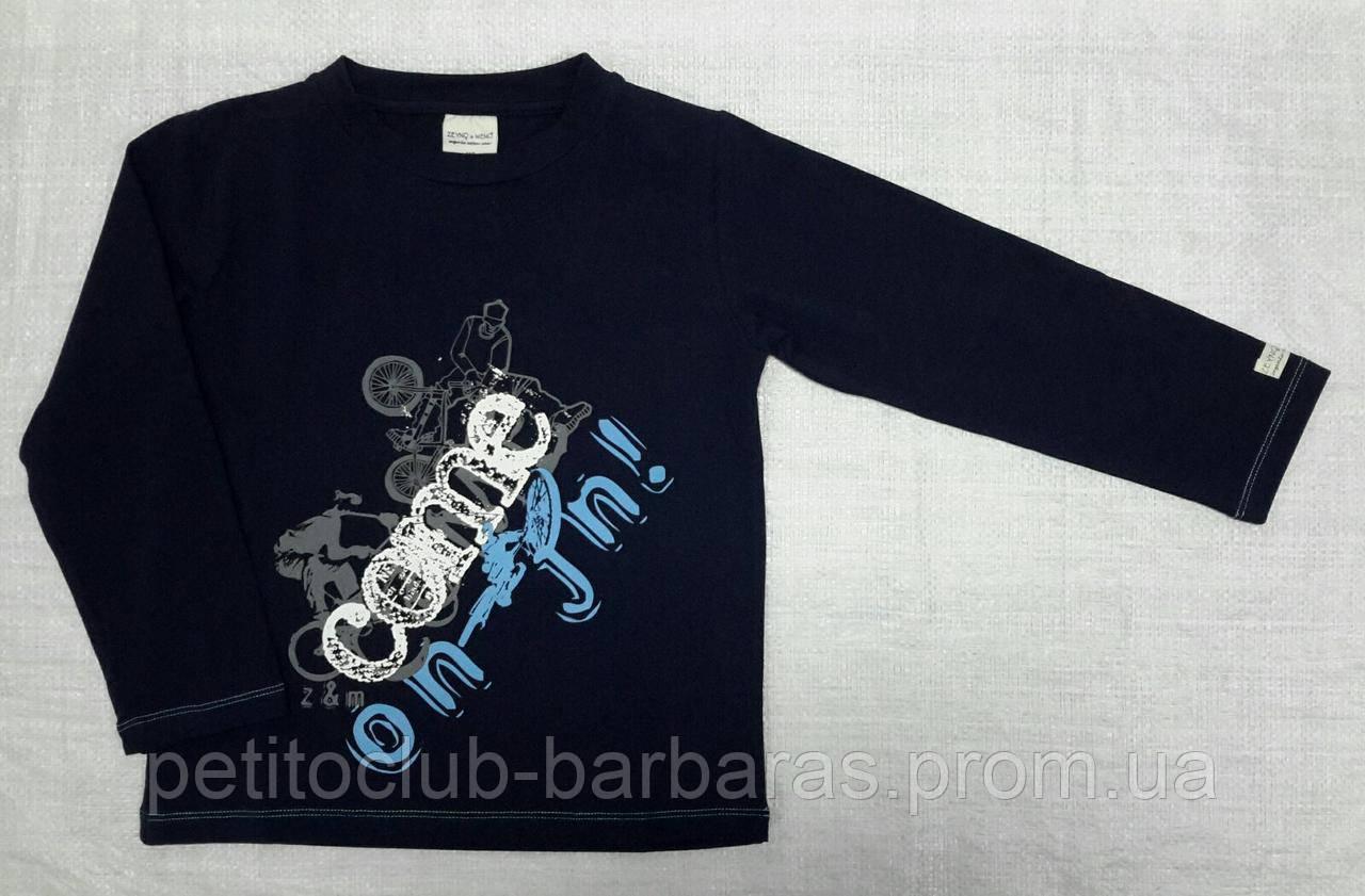 Детский реглан из органического хлопка для мальчика темно-синий  (Z&M, Турция)