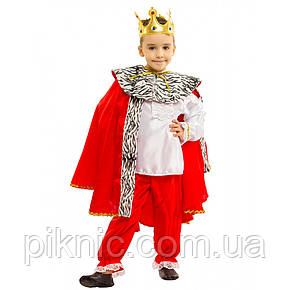 Костюм Король 5,6,7,8 лет. Детский новогодний карнавальный маскарадный для мальчиков Царь 344, фото 2
