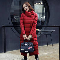Пуховик  пальто женский красный. Классика премиум качество. Новейшая  коллекция (0003 - НИКОЛЬ)