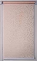 Готовые рулонные шторы 800*1500 Ткань Акант 2070 Кремовый