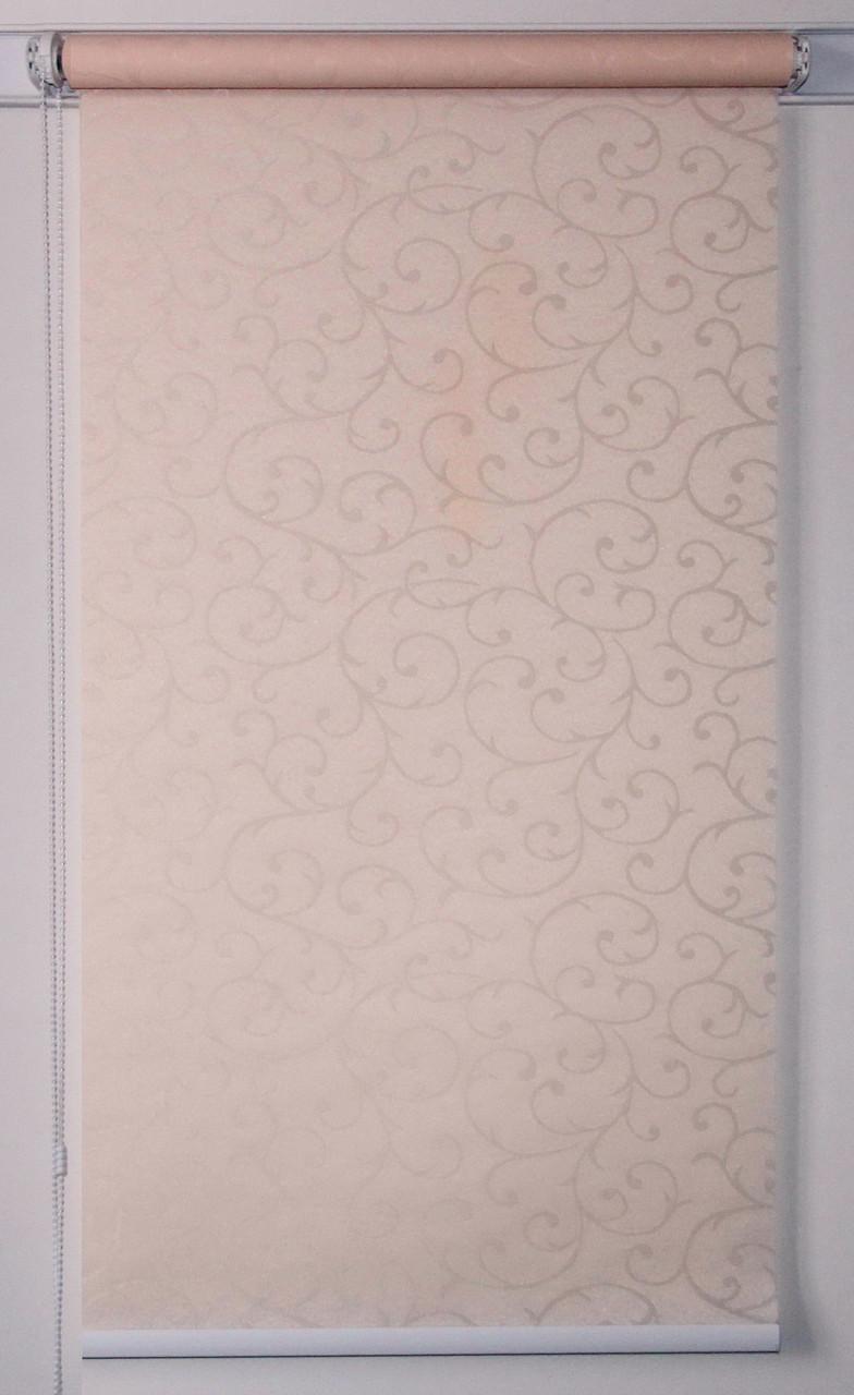 Рулонная штора 875*1500 Акант 2070 Кремовый