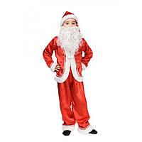 Костюм Санта Клаус 5,6,7,8,9,10 років. Дитячий новорічний карнавальний костюм Новий рік, Дід Мороз