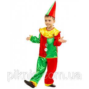 Костюм Петрушка 4,5,6,7,8 лет Детский новогодний карнавальный костюм Арлекин Скоморох 344, фото 2