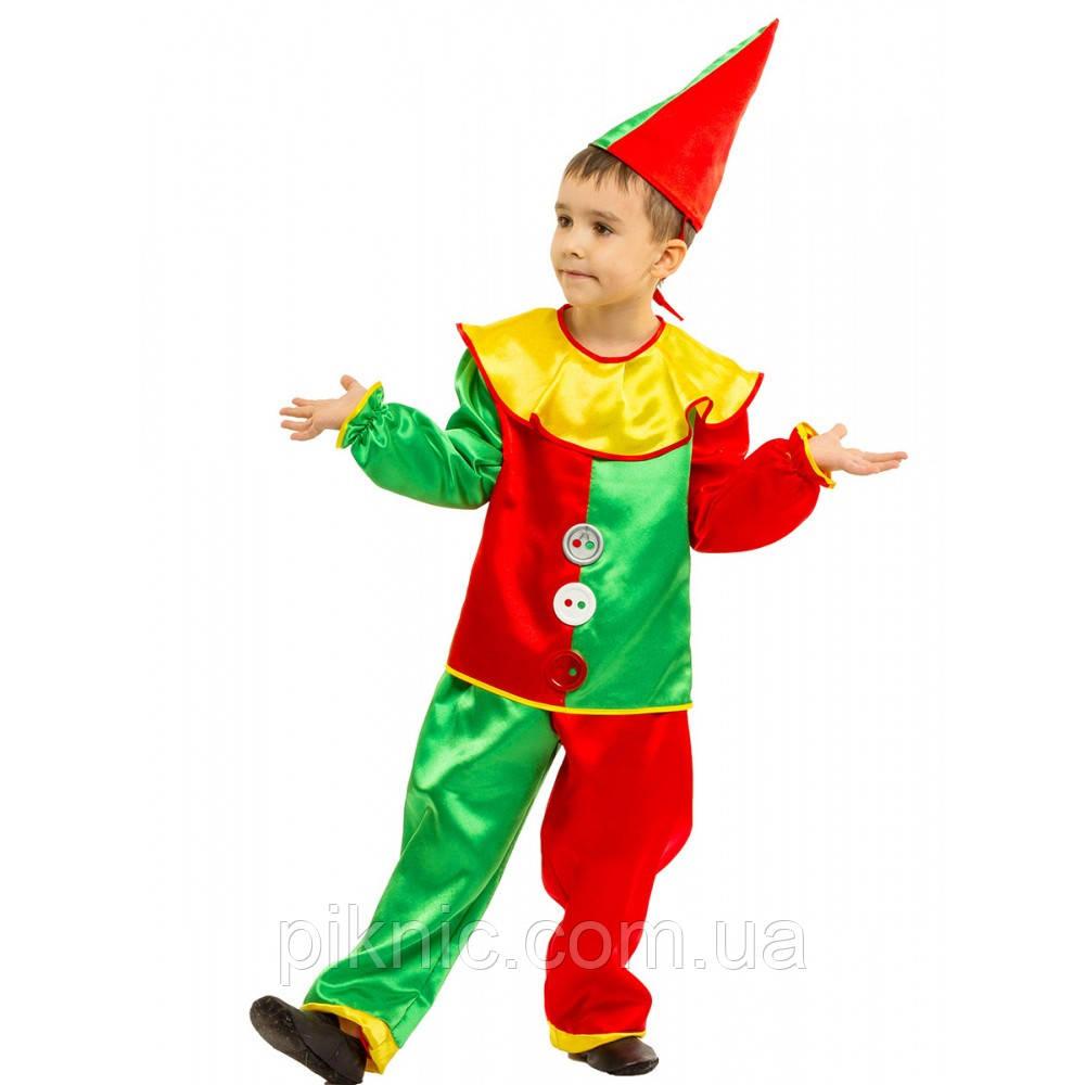 Костюм Петрушка 4,5,6,7,8 лет Детский новогодний карнавальный костюм Арлекин Скоморох 344