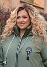 Женская зимняя куртка длинная размер 52-66 № 1177, фото 3