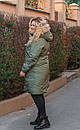 Женская зимняя куртка длинная размер 52-66 № 1177, фото 4