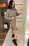 Платье свободного кроя, рукав летучая мышь с капюшоном / ангора / Украина, фото 6