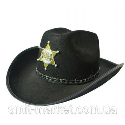 Шляпа Шерифа фетр детская