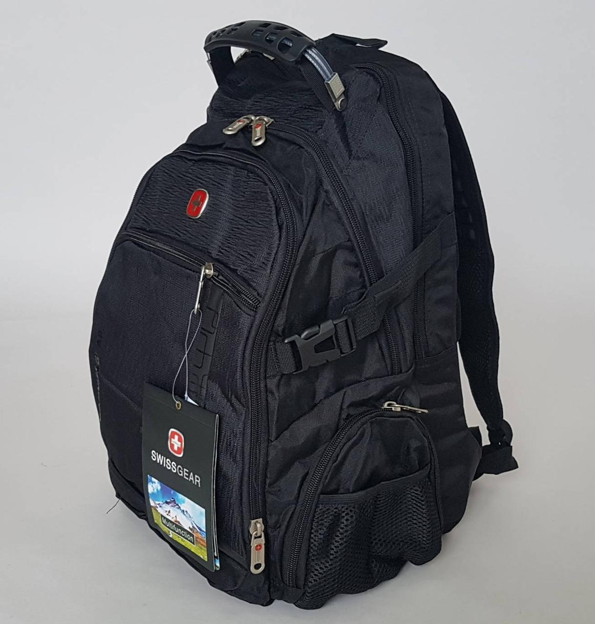 Городской черный рюкзак с эргономичным дизайном